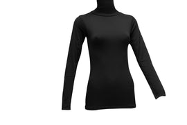 Fleecy Lined High Neck Thermal Top For Women