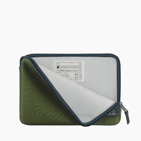 "CÂPRE MacBook Air 13"" Pouch-Green"