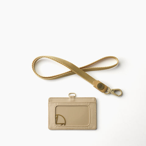 Lustre Horizontal Badge Holder-Sand