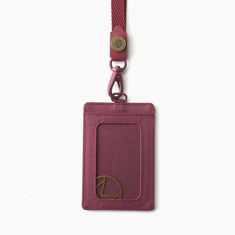 Lustre Passport Holder-Maroon