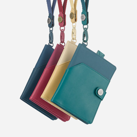 Lustre Passport Holder-Denim