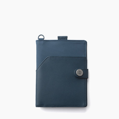 Lustre Horizontal Badge Holder-Denim