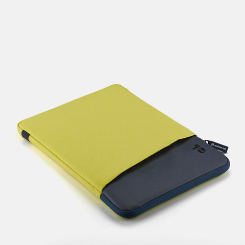 "Bleu Macbook Sleeve 12""-Lime"