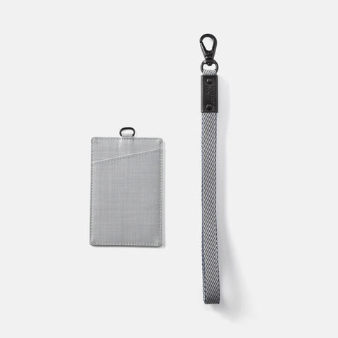 Noir Badge Holder-Grey