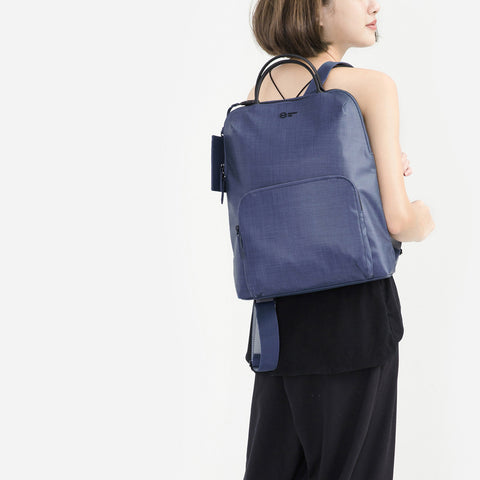 Noir Rosebud Backpack-navy