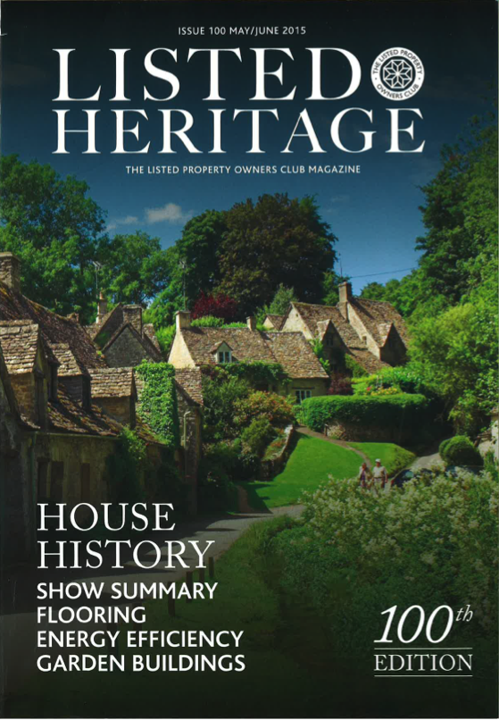 Listed Heritage May 2015