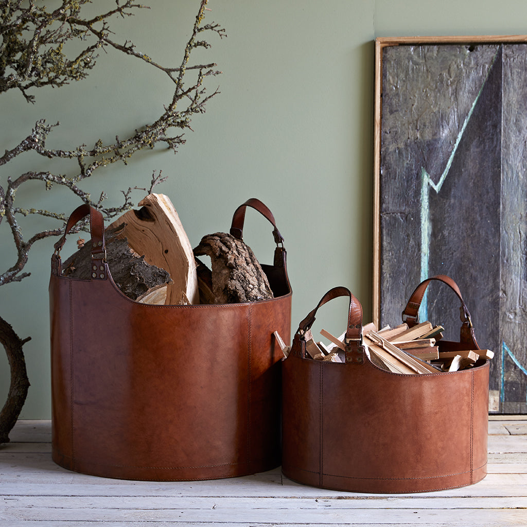 Leather Basket Collection