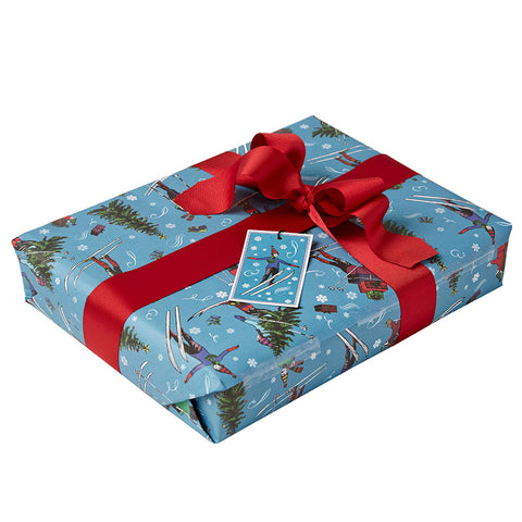 Christmas gift wrap hand tied with luxury grosgrain ribbon