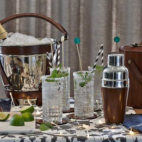 Nickle wine cooler, cocktail shaker and ice bucket