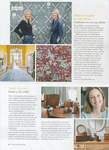 Life of Riley featured in The English Home