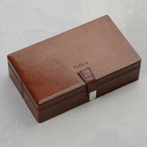 Personalised sectioned cufflink box