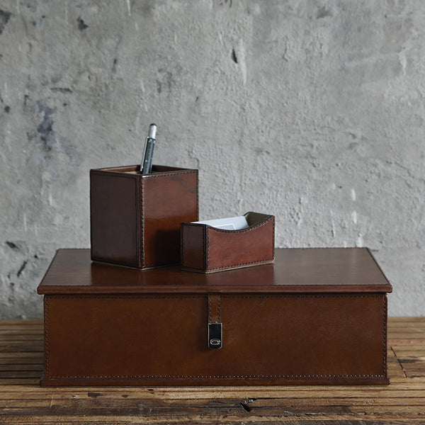 Leather Box File