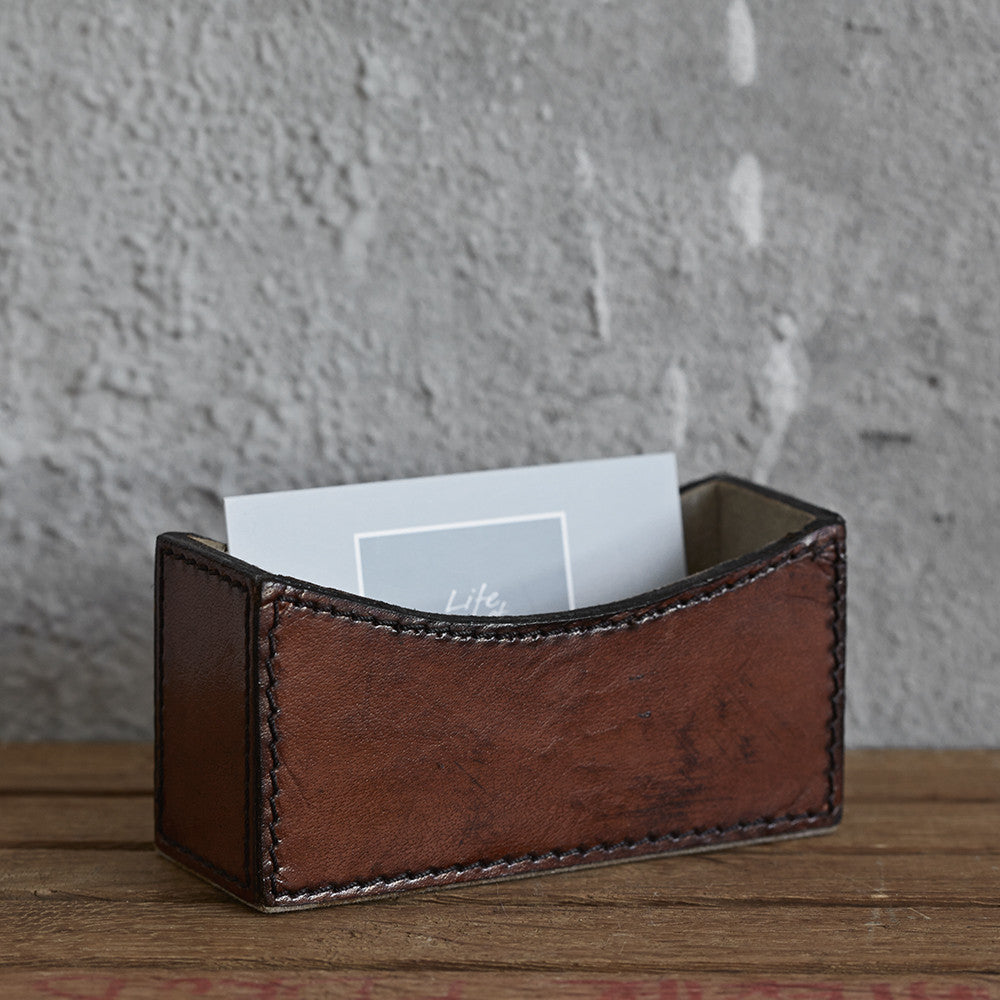 Conker brown business card holder