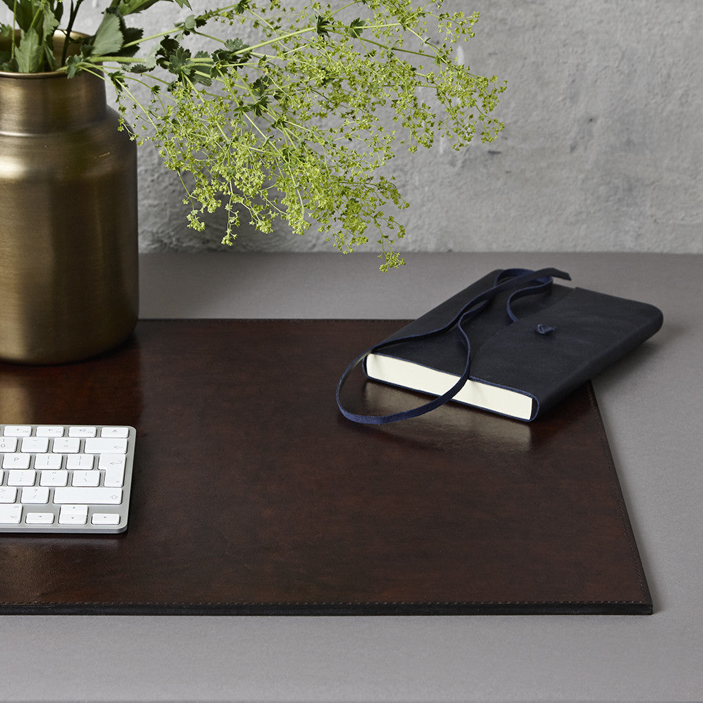 Dark Brown Leather Desk Mat ...