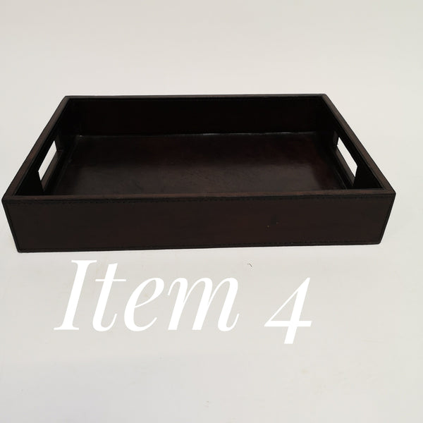 Leather Chocolate A4 In tray, seconds Item 4