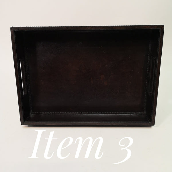 Leather Chocolate A4 In tray, seconds Item 3