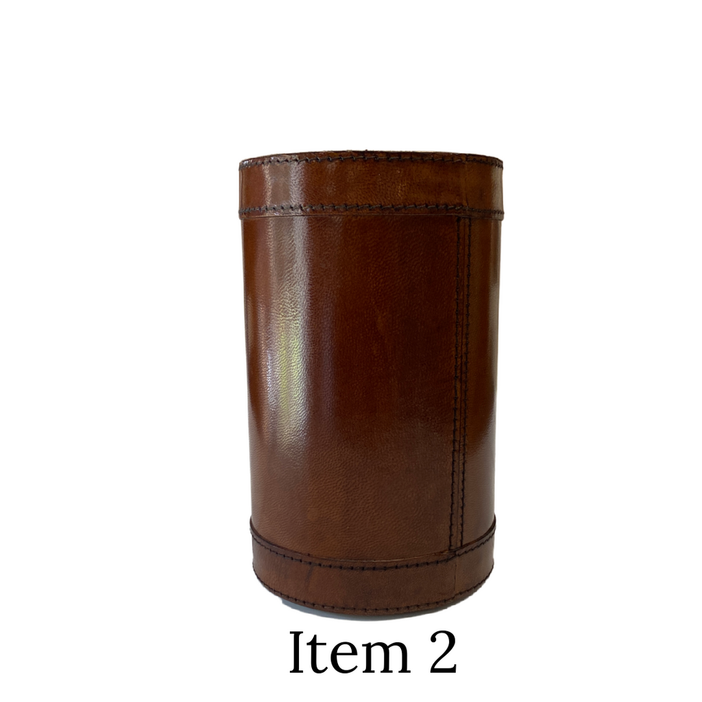 Leather wine coller seconds item 2