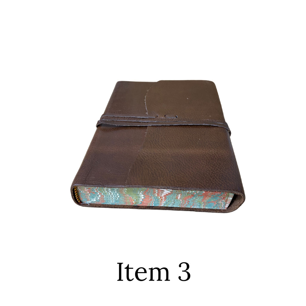 Seconds leather marble edged tie journal item 3