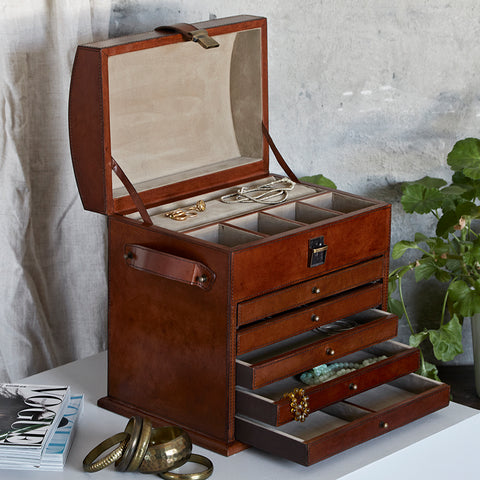 Jewellery Organiser with 5 drawers open
