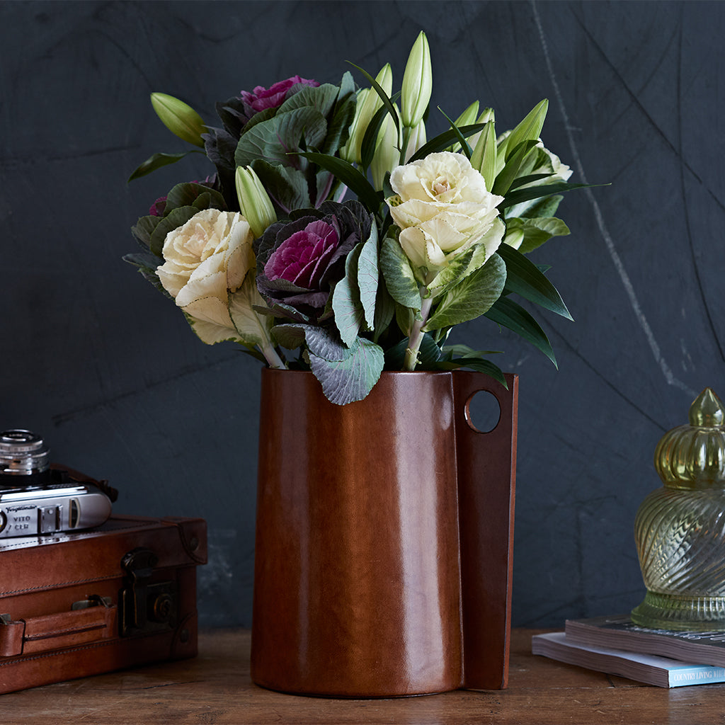 Leather Jug Vase