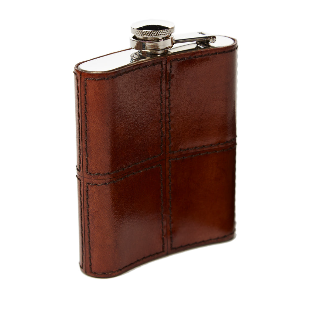 Conker Leather Hip Flask