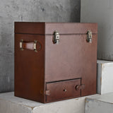 Leather drinks box