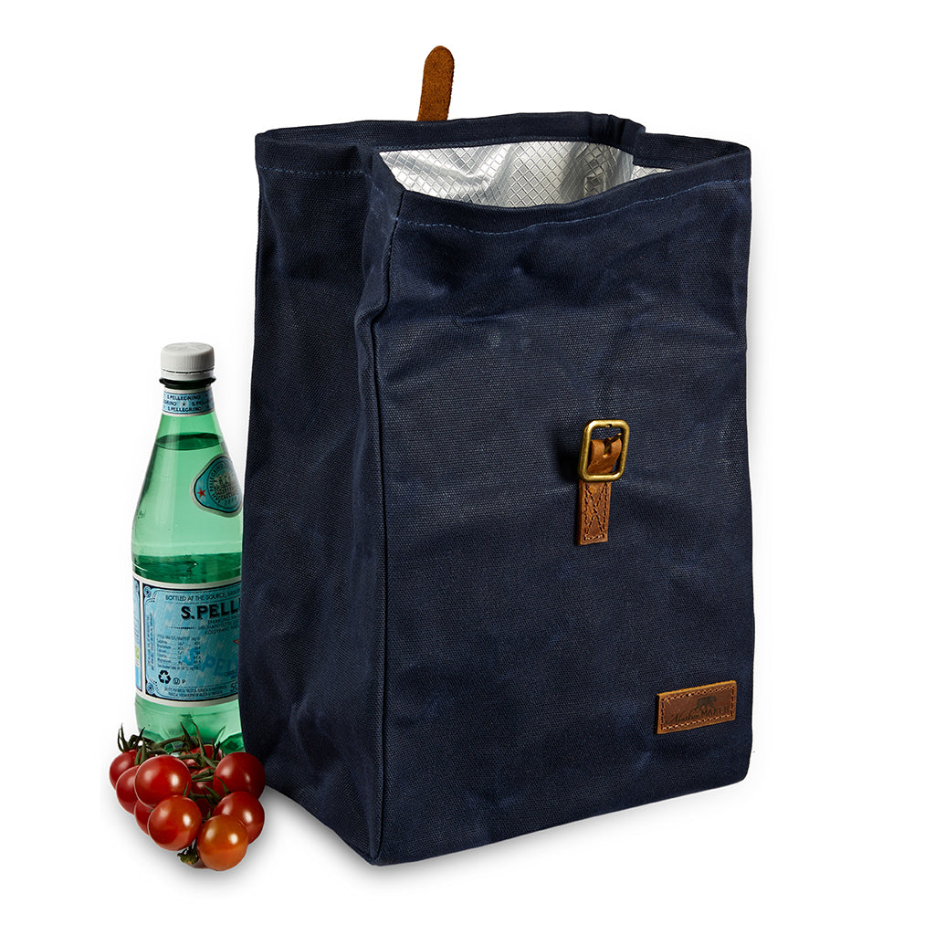 open wax canvas lunch bag