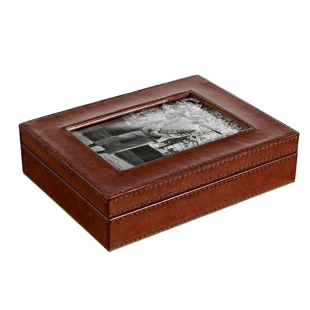 leather photobox for storing memories