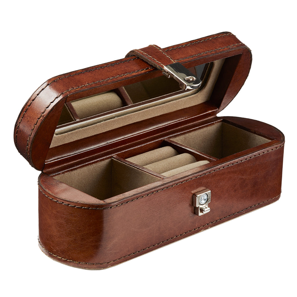 Small Leather Jewellery Box - Seconds