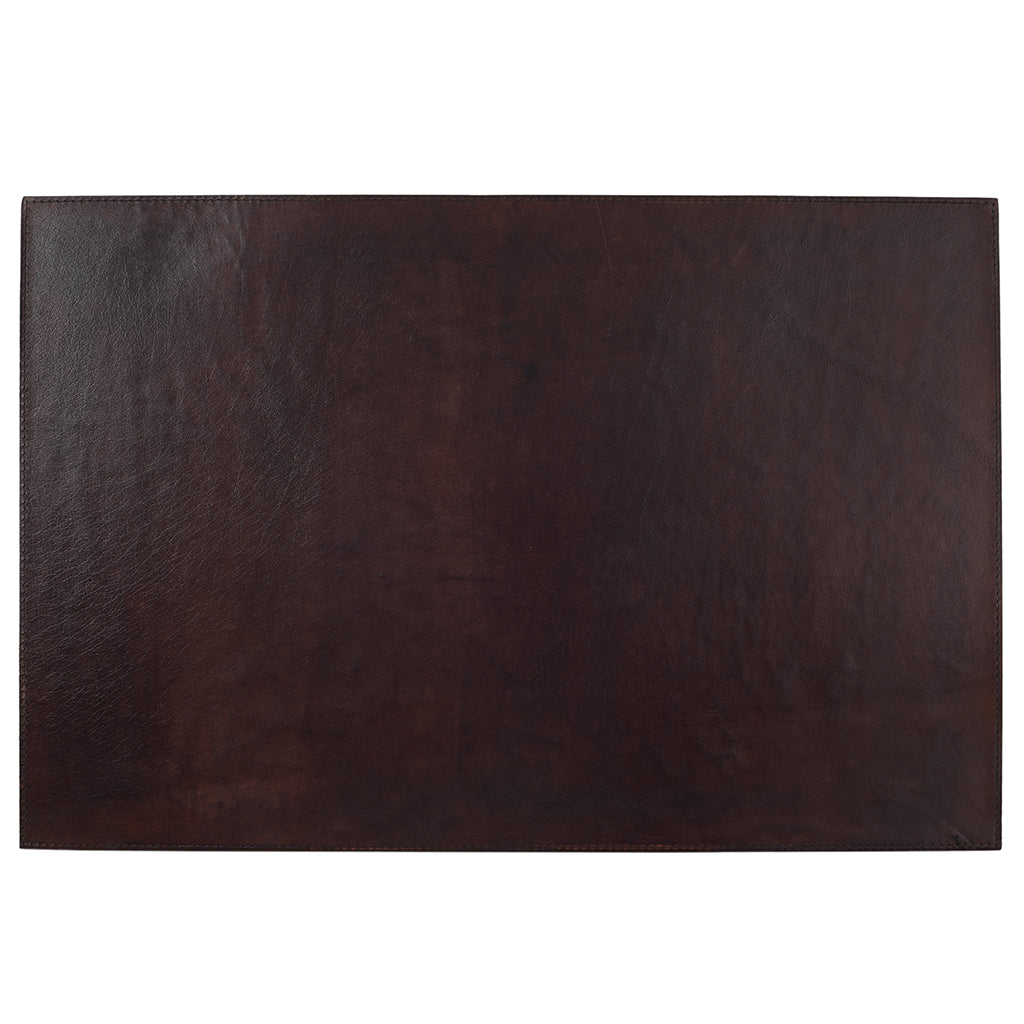 Example of Dark Chocolate Brown leather desk mat