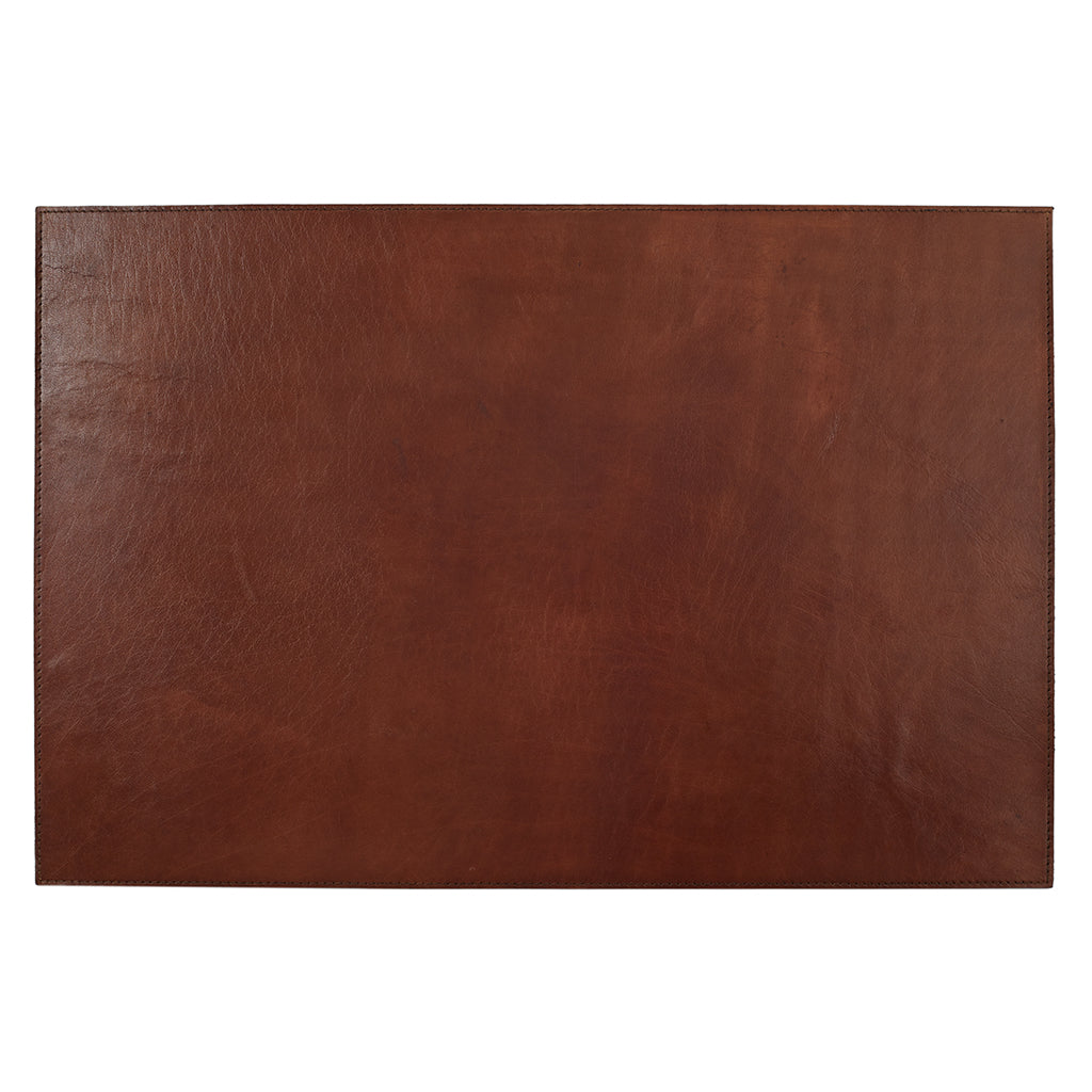 Example of Conker Brown Leather Desk Mat