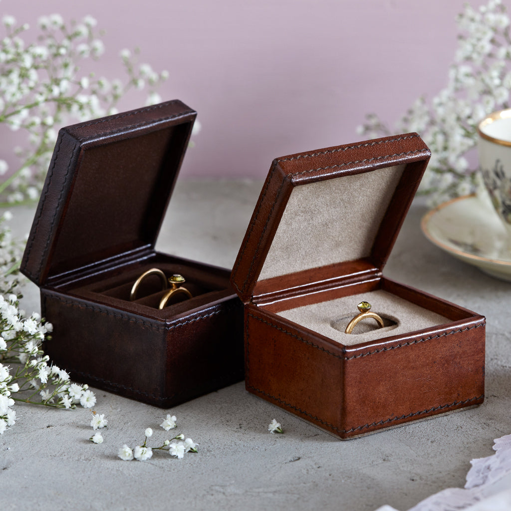 Wedding ring box and ring box