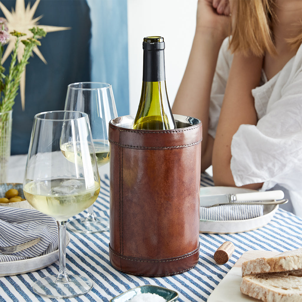 Leather Celebration Wine Cooler Gift