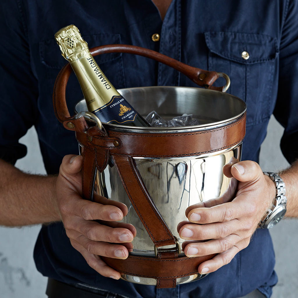 nickel wine cooler for champagne