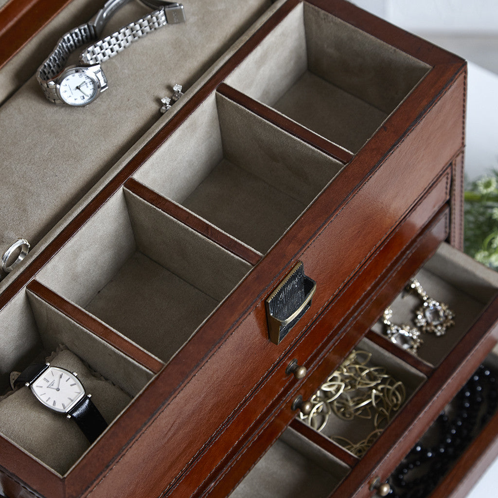 Leather Men's Jewellery Organiser