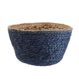 Blue jute storage basket