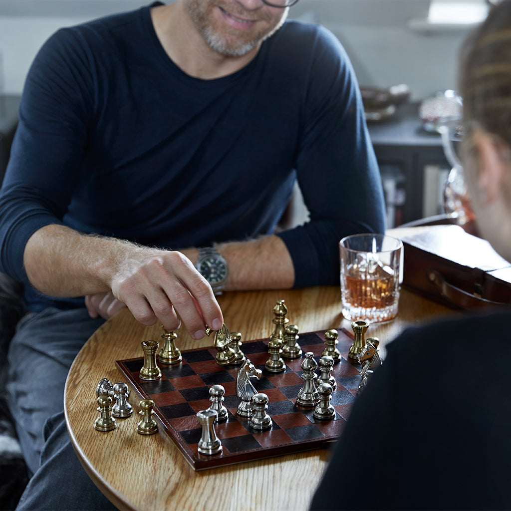 playing chess with family