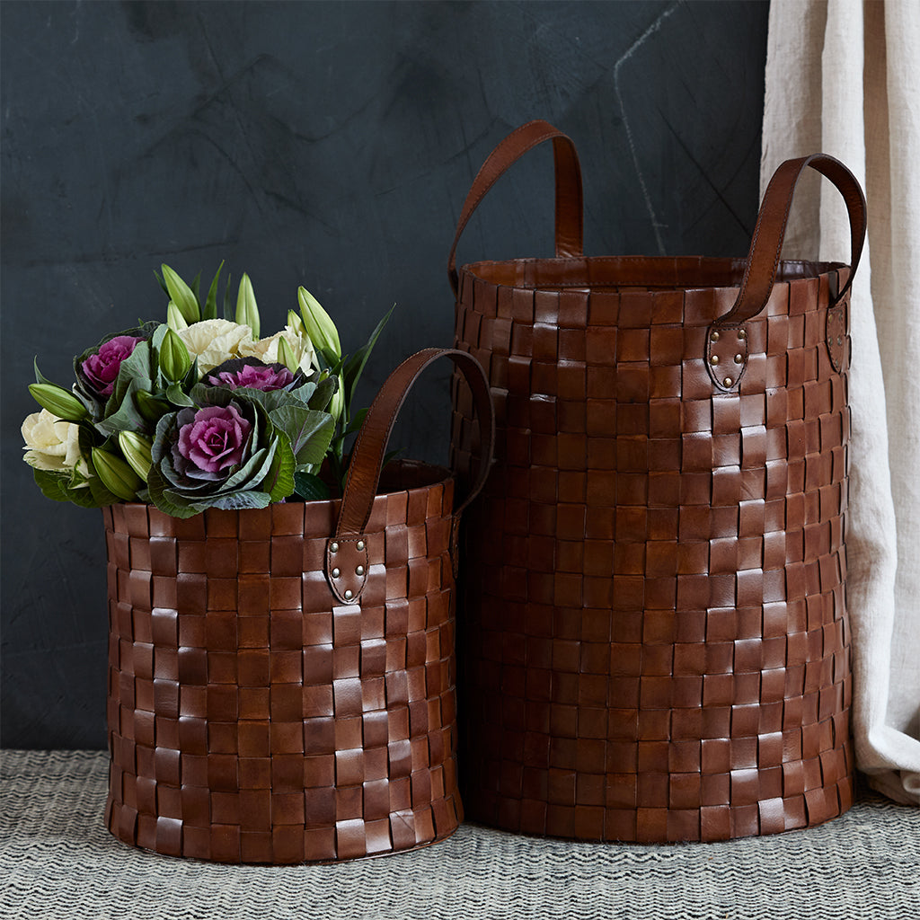 woven basket set of two