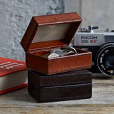 leather travel cufflink box