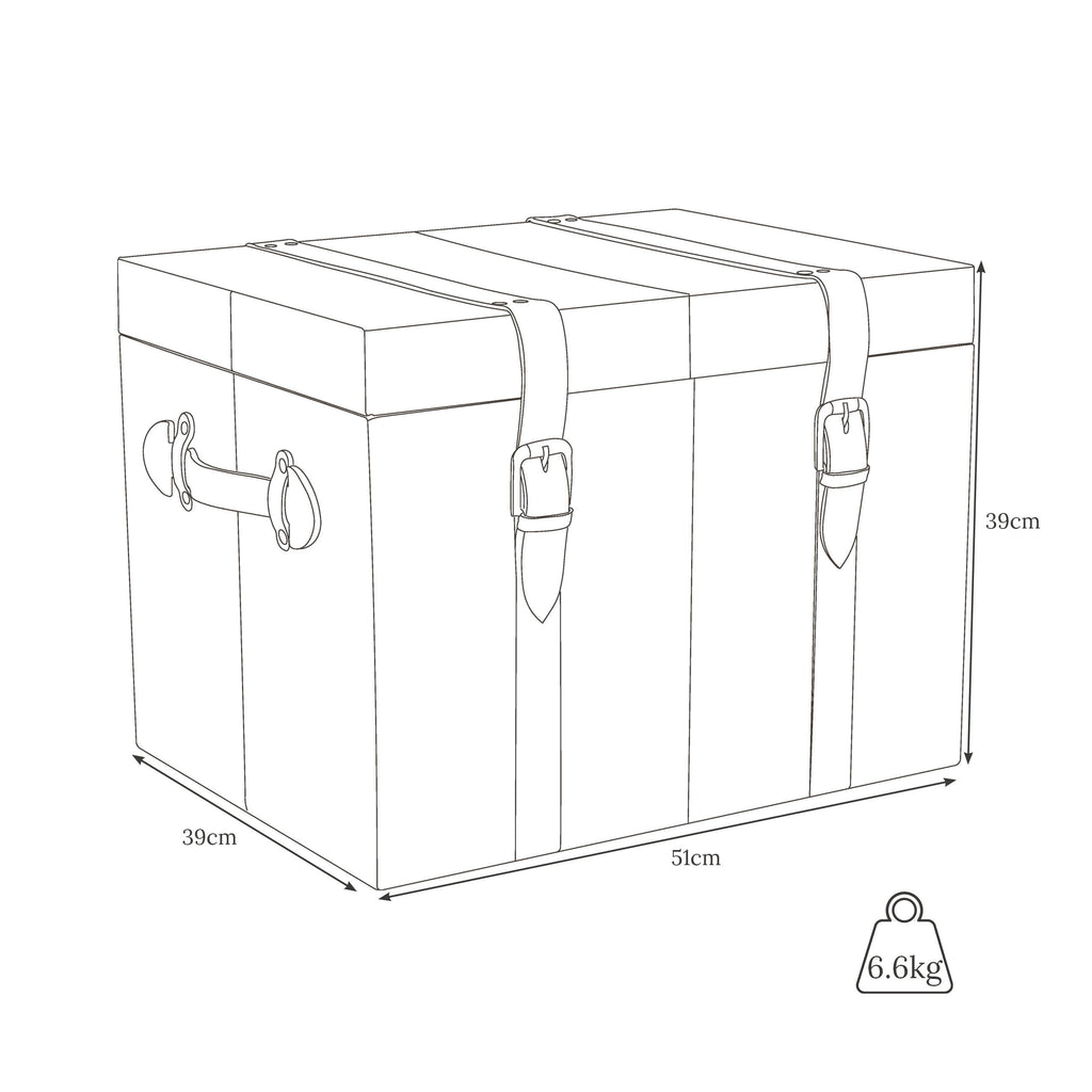 Weights and dimension of Cabin trunk