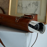leather cylinder map document case for keeping documents, plans or maps rolled.