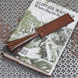 Conker brown leather book mark