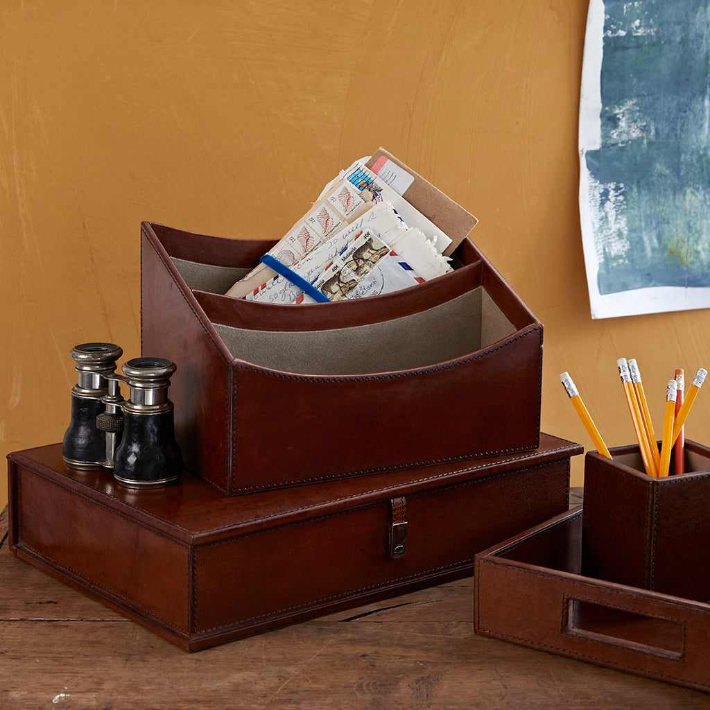 add a box file to the leather desk set