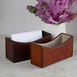 Dark brown and conker business card holders