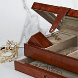 Jewellery box with travel earring box