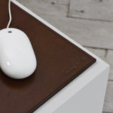 embossed leather mouse mat