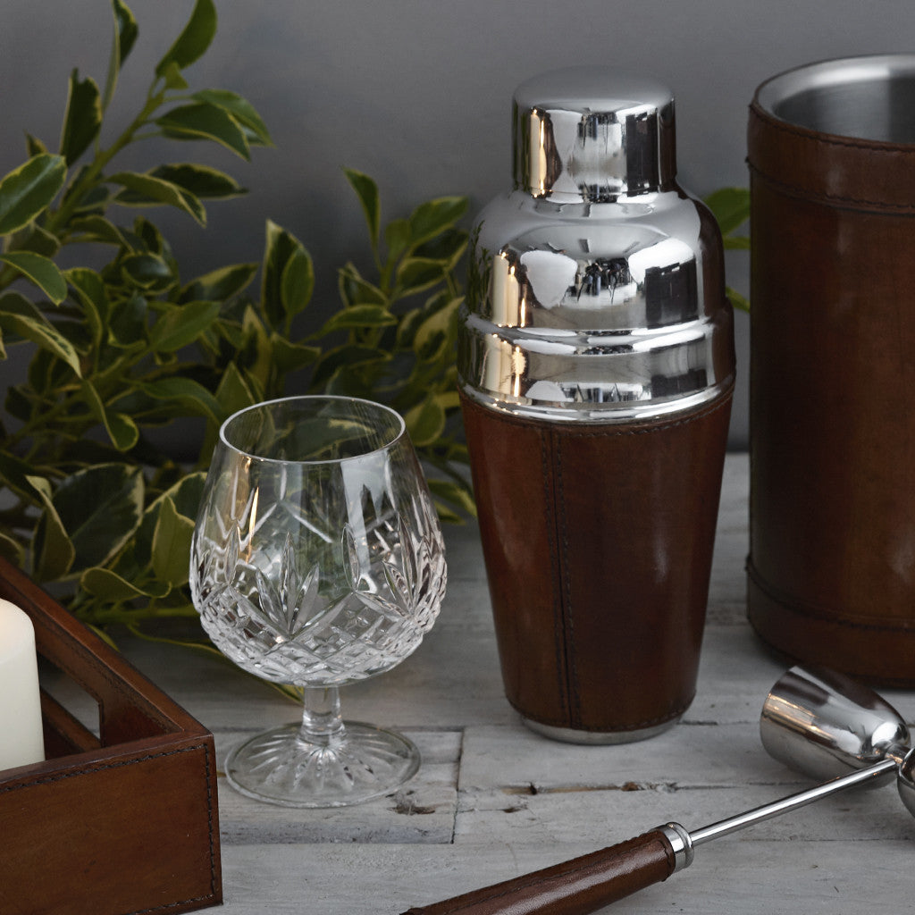 Cocktail shaker and spirit measure