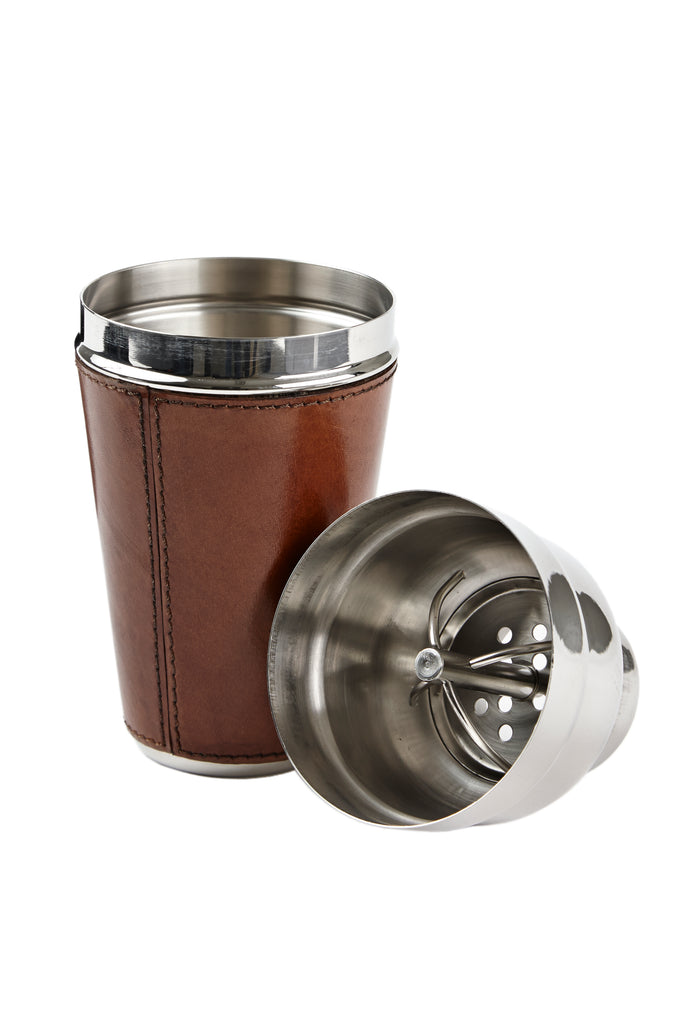 Leather Cocktail Shaker - Conker