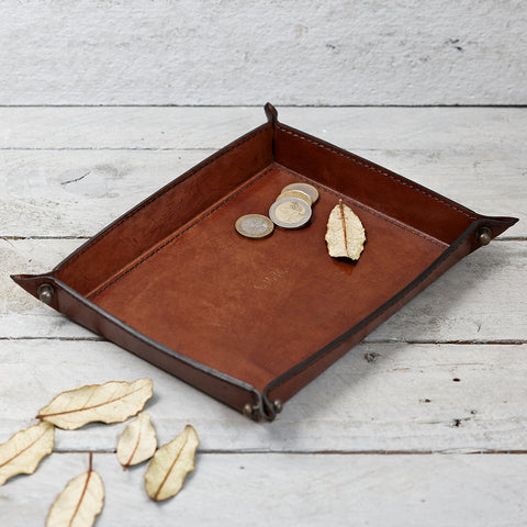 Classic Leather Coin tray for men