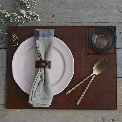 Leather Place setting
